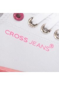 Białe półbuty Cross Jeans z cholewką, casualowe