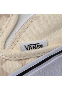 Beżowe buty sportowe Vans bez zapięcia, z cholewką