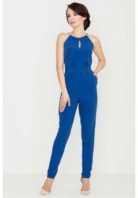 Niebieski kombinezon Katrus elegancki