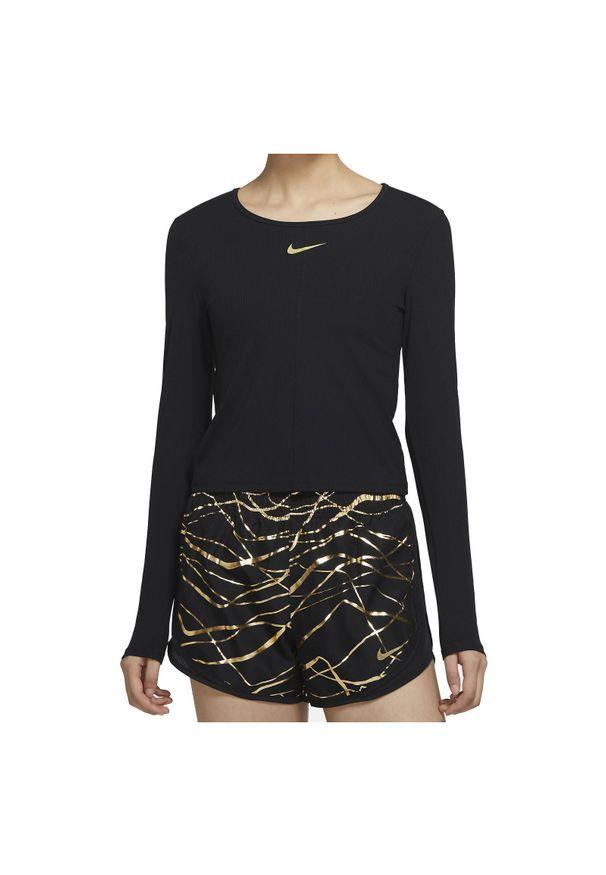 Koszulka damska do biegania Nike Icon Clash CU3347. Materiał: nylon, materiał, tkanina, prążkowany, poliester. Długość rękawa: długi rękaw. Technologia: Dri-Fit (Nike). Długość: długie. Sport: bieganie