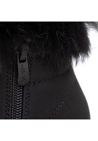 Nelli Blu - Trapery NELLI BLU - CS722-38 Black 1. Okazja: na spacer. Kolor: czarny. Materiał: skóra, skóra ekologiczna. Szerokość cholewki: normalna. Wzór: aplikacja. Sezon: zima, jesień