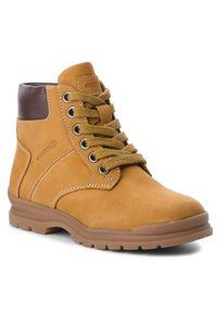 Żółte buty zimowe Geox z cholewką