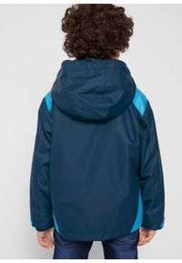 Niebieska kurtka bonprix z kapturem, na co dzień, casualowa