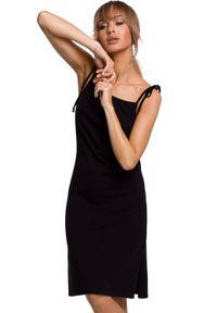 MOE - Bawełniana sukienka na cienkich ramiączkach na lato. Materiał: bawełna. Długość rękawa: na ramiączkach. Sezon: lato. Typ sukienki: proste. Długość: midi
