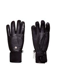 Czarna rękawiczka sportowa Reusch narciarska, Primaloft