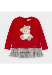 Mayoral Komplet sweter i sukienka 2948 Czerwony Regular Fit. Kolor: czerwony