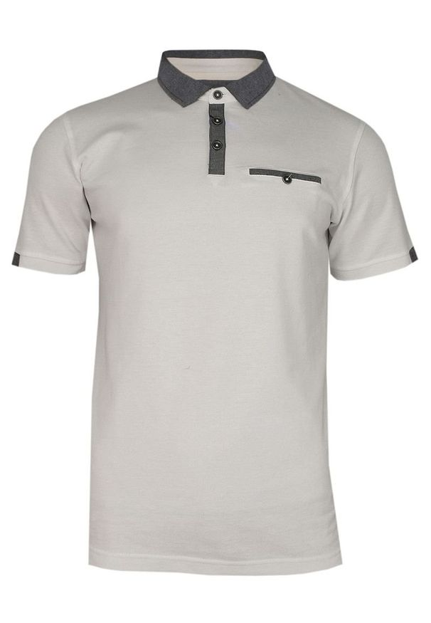 T-shirt Ranir elegancki, krótki, polo, z krótkim rękawem