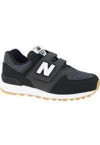 Czarne sneakersy New Balance w kolorowe wzory, z cholewką