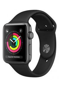 APPLE - Smartwatch Apple Watch 3 - gwiezdna szarość aluminium 42 | czarny sportowy pasek. Rodzaj zegarka: smartwatch. Kolor: czarny. Styl: sportowy