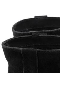 Badura - Botki BADURA - 7734-69-113 Czarny. Kolor: czarny. Materiał: zamsz, skóra. Obcas: na obcasie. Wysokość obcasa: średni
