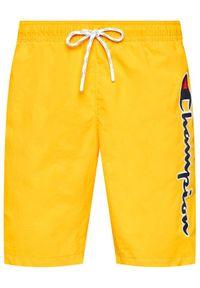 Champion Szorty kąpielowe Satin Script Logo Board 214428 Żółty Board Fit. Kolor: żółty #4