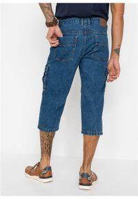 """Dżinsy bojówki 3/4 Regular Fit Straight z elastycznymi wstawkami po bokach w talii bonprix niebieski """"stone"""". Kolor: niebieski"""