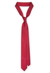 Czerwony krawat Lancerto wizytowy, na co dzień