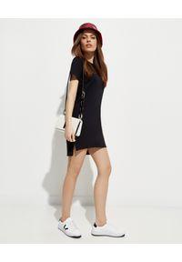Kenzo - KENZO - Bawełniana sukienka Sport. Okazja: na co dzień. Kolor: czarny. Materiał: bawełna. Wzór: aplikacja. Typ sukienki: sportowe. Styl: sportowy