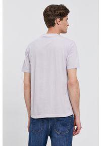 Calvin Klein - T-shirt. Okazja: na co dzień. Kolor: fioletowy. Styl: casual