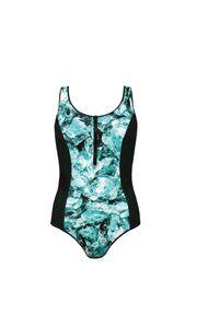 Strój kąpielowy damski jednoczęściowy Feba F83A. Materiał: poliamid, materiał, elastan. Wzór: ażurowy