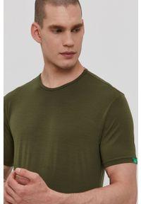 Calvin Klein Underwear - T-shirt CK One. Okazja: na co dzień. Kolor: zielony. Materiał: włókno, dzianina, materiał. Wzór: gładki. Styl: casual