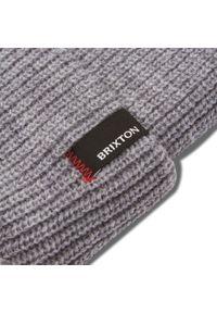 Brixton - Czapka BRIXTON - Heist Beanie 10782 Light Heather Grey. Kolor: szary. Materiał: akryl, materiał