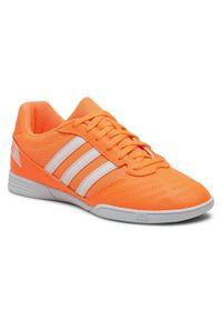 Pomarańczowe półbuty Adidas casualowe, z cholewką, na co dzień