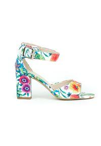 Sandały Zapato w kolorowe wzory, wąskie