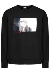 Karl Lagerfeld - KARL LAGERFELD Bluza Sweat 705037 502910 Czarny Regular Fit. Typ kołnierza: dekolt w karo. Kolor: czarny