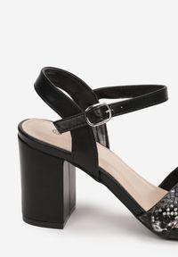 Renee - Czarne Sandały Asheithe. Kolor: czarny