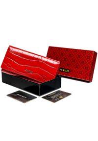 4U CAVALDI - Portfel damski czerwony Cavaldi PX24-CR-0550 RED. Kolor: czerwony. Materiał: skóra