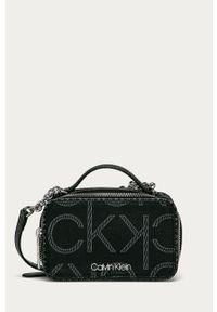 Czarna listonoszka Calvin Klein mała, skórzana, na ramię