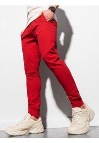 Czerwone spodnie Ombre Clothing