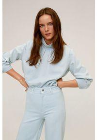 Niebieskie jeansy mango w kolorowe wzory