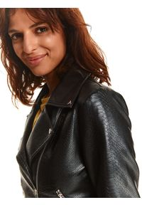 TOP SECRET - Ramoneska z paskiem ze skóry ekologicznej. Kolor: czarny. Materiał: skóra ekologiczna