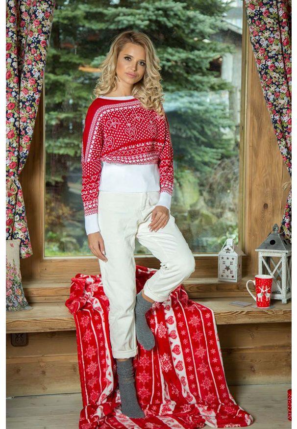 Sweter oversize Fobya w kolorowe wzory