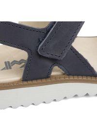 Niebieskie sandały Imac z aplikacjami
