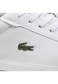 Lacoste - Sneakersy LACOSTE - Graduate Cap 0721 1 Sma 7-41SMA0013286 Wht/Red. Okazja: na co dzień. Kolor: biały. Materiał: skóra ekologiczna, materiał. Szerokość cholewki: normalna. Styl: elegancki, casual