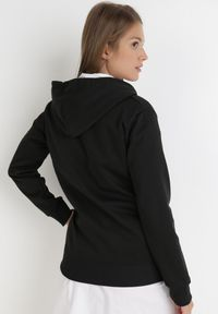 Born2be - Czarna Bluza Pentheris. Kolor: czarny. Materiał: bawełna, dzianina, polar, jeans. Długość rękawa: długi rękaw. Wzór: napisy, haft