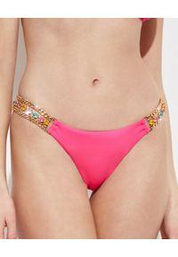 BEACH BUNNY - Dół od bikini Tiana. Kolor: różowy, wielokolorowy, fioletowy. Materiał: materiał. Wzór: aplikacja, kolorowy