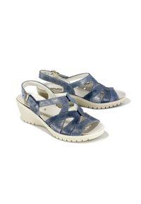 Niebieskie sandały Suave na rzepy