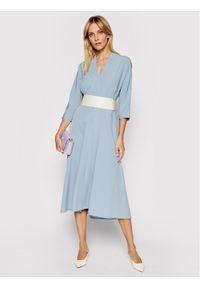 Imperial Sukienka codzienna AAWBBHP Niebieski Regular Fit. Okazja: na co dzień. Kolor: niebieski. Typ sukienki: proste. Styl: casual