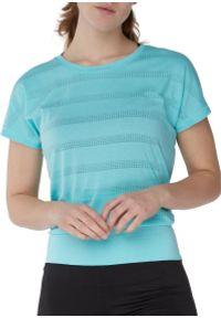 Koszulka damska do biegania Pro Touch Agny 285827. Materiał: dzianina, jersey, włókno, materiał, bawełna, poliester, syntetyk. Długość rękawa: krótki rękaw. Długość: krótkie. Sport: bieganie, fitness