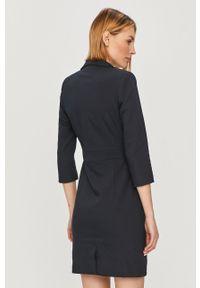 Niebieska sukienka Morgan na spotkanie biznesowe, biznesowa, mini