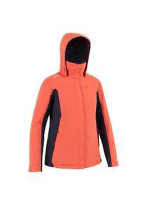 TRIBORD - Ciepła kurtka żeglarska 100 damska. Kolor: czerwony. Materiał: tkanina, polar, materiał. Sport: żeglarstwo