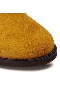 Brązowe botki Gabor na obcasie, na średnim obcasie