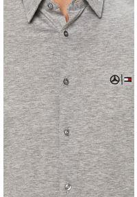 Szara koszula Tommy Hilfiger Tailored casualowa, długa, na co dzień, z klasycznym kołnierzykiem