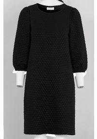 Freequent Sukienka dżersejowa Bobble Czarny female czarny XL (44). Kolor: czarny. Materiał: jersey. Styl: elegancki