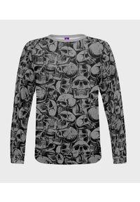 MegaKoszulki - Bluza damska fullprint Skulls. Długość: długie. Styl: klasyczny