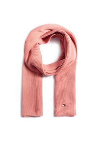 Różowy szalik TOMMY HILFIGER