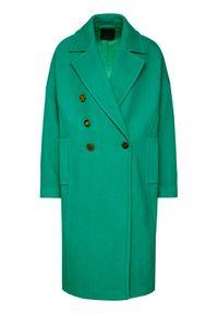 Zielony płaszcz przejściowy Pinko