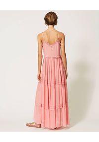 Sukienka TwinSet w koronkowe wzory, maxi