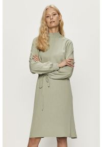 Zielona sukienka Vila mini, ze stójką