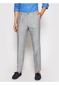 JOOP! - Joop! Spodnie materiałowe 17 Jt-18Hank 30026548 Szary Slim Fit. Kolor: szary. Materiał: materiał